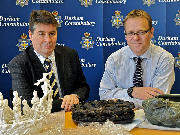 Stolen oriental museum artefacts found undamaged in field in Brandon area