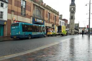 Paramedics treat woman suffering from fit on bus in Darlington town centre